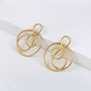 Madewell Jewelry - Madewell Treble Twist Earrings in Vintage Gold